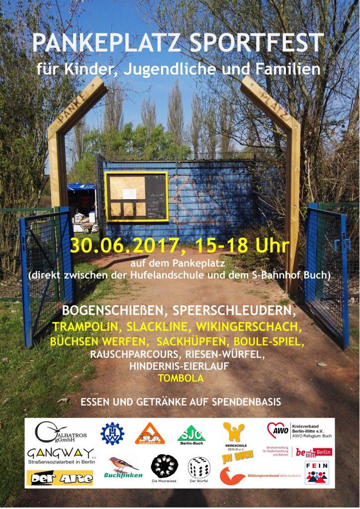 Sportfest auf dem Panke-Platz für Kinder, Jugendliche und Familien @ Panke-Platz