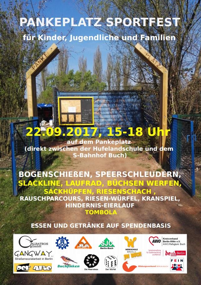 Panke-Platz Sportfest für Kinder, Jugendliche und Familien